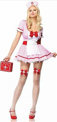Leg Avenue Costume Nurse Kandi 83509 Red/Pink  ()