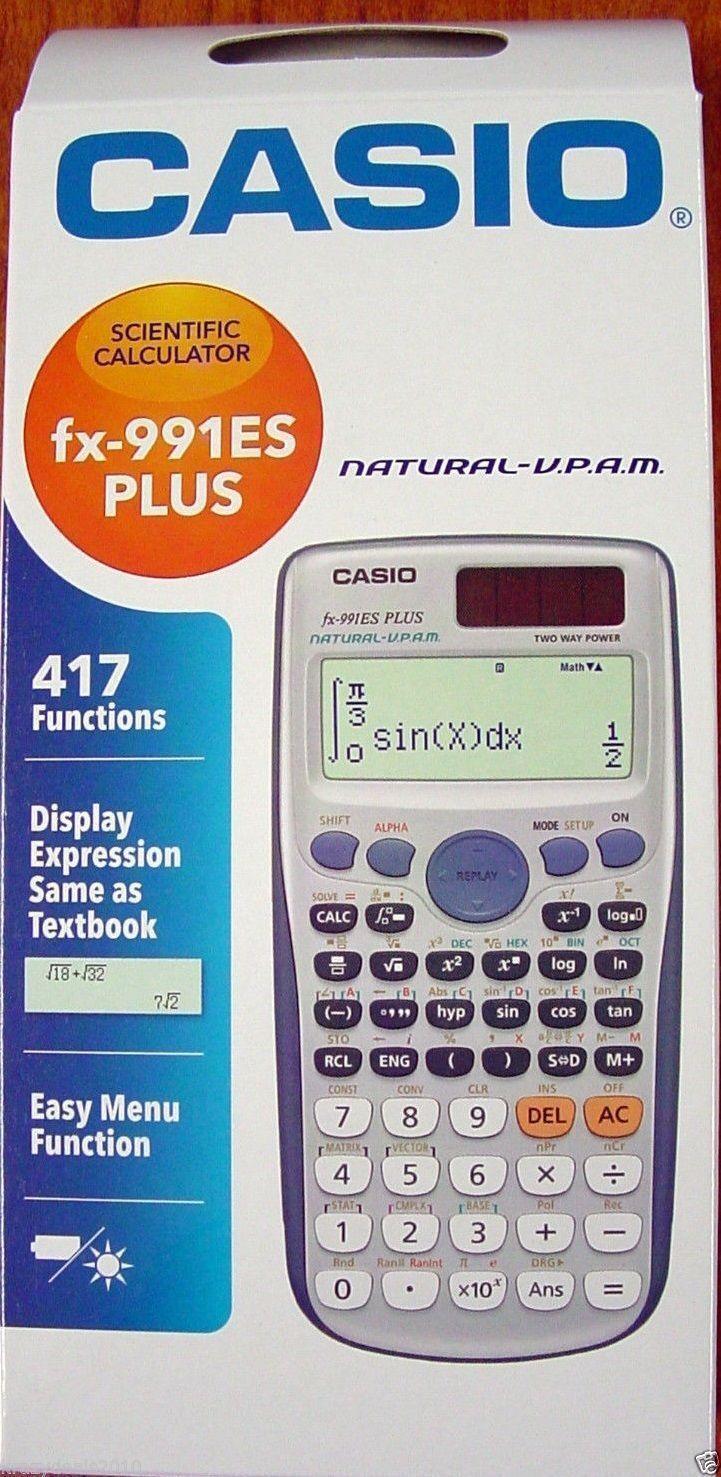 Casio FX991 ES Plus Scientific calculator with User Guide