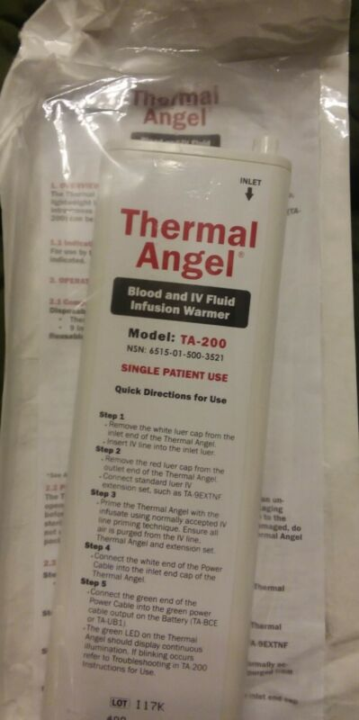 *Lot of 2* Thermal Angel Blood & IV Fluid Infusion Warmer Model TA-200 3521