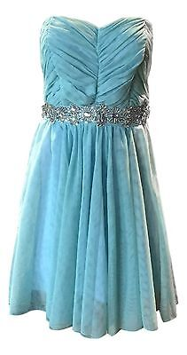 Disney Junior's Size 11 Turquoise Blue Cinderella Collection Strapless Dress