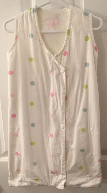 Babylicious Boutique Baby Sleep Sack White With Polka dots EUC