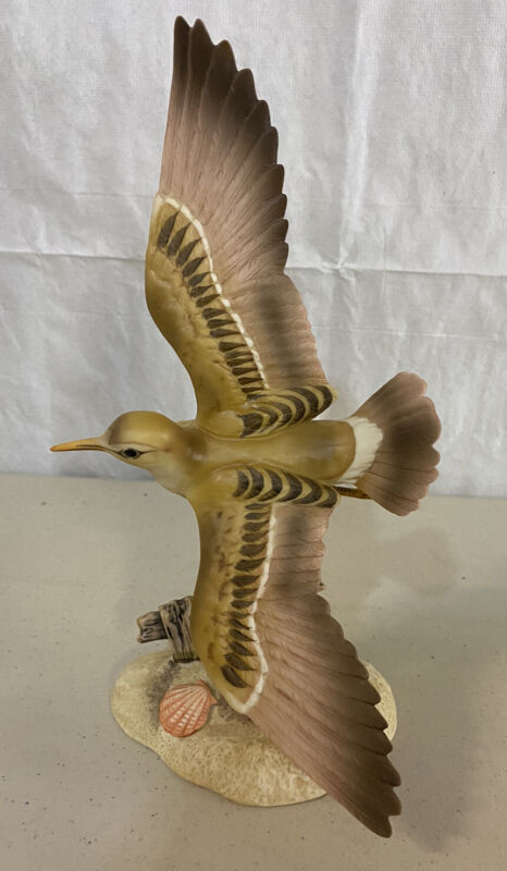Homco Masterpiece Porcelain Morning Flight Sandpiper Bird 1986