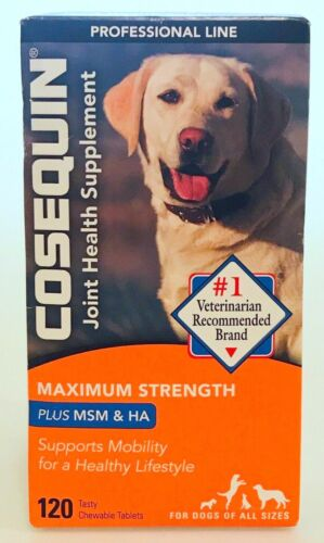 Cosequin Joint Health Plus MSM & HA For All Dog Sizes 120 Tabs