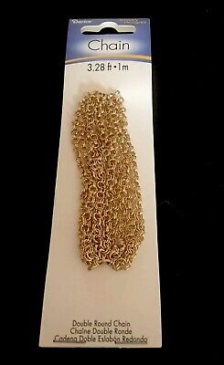DARICE GOLD Link Double Round Chain 3.28ft • 1 14k Plated Brand New Package