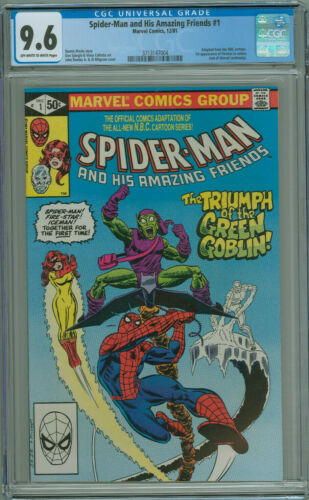 Spider-man and His Amazing Friends #1 CGC 9.6 1st App Firestar Marvel 1981 Hot!