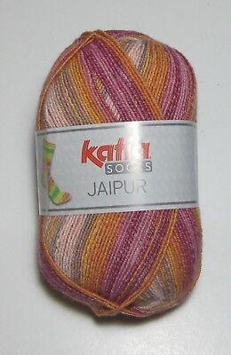 100 gram ball of Katia JAIPUR Cotton Blend SOCK knitting yarn Color #50