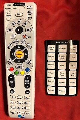 5 DIRECTV RC66RX Remote Control With Out Batteries Universal IR/RF 4 Pre Owned
