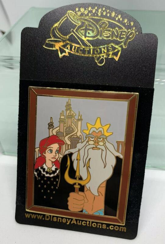 Disney Auctions Ariel & Triton Masterpiece Pin LE 100 Little Mermaid Rare HTF