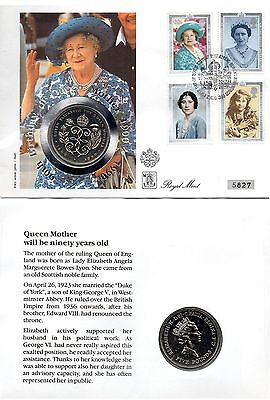 NUMISBRIEF NR. 5827 *QUEEN MOTHER 90TH BIRTHDAY*