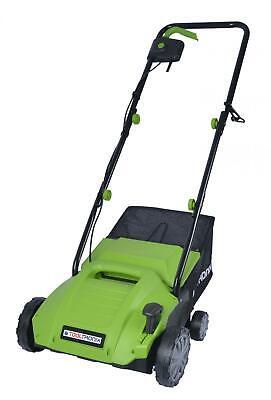 Laptronix 1500W 2 in 1 Electric Scarifier Lawn Rake Aerator 32cm Width 4 Heights