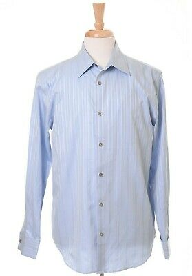 Calvin Klein Light Blue 100% Cotton French Cuff Spread Collar Mens Dress Shirt Collar French Cuff Dress Shirt
