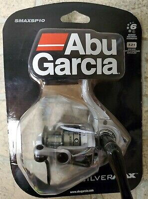 ABU GARCIA Silver Max 10 SMAXSP10 Spinning Reel 5.2:1 Ratio 6 Bearing NEW OPENED