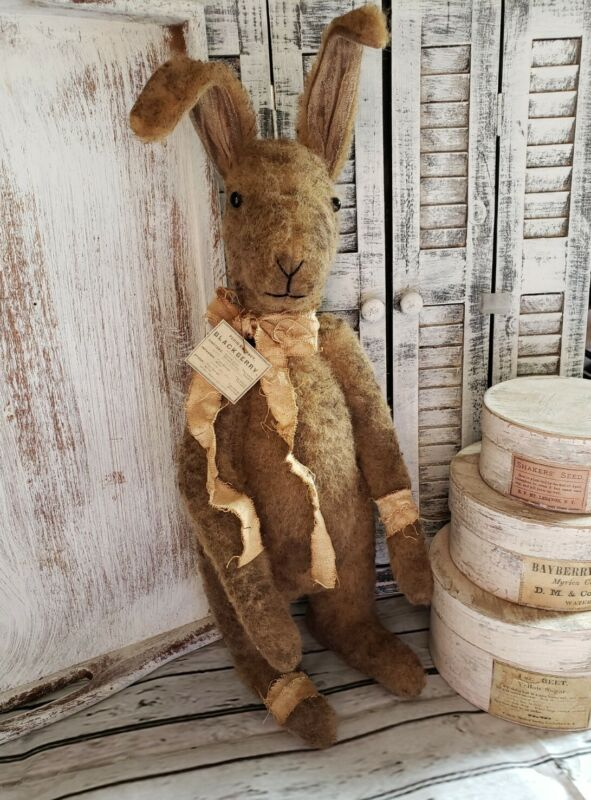 Handmade Primitive Standing Bunny 15 Inches Tall