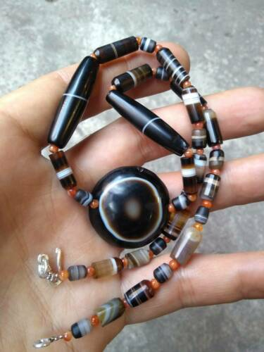 ancient lukmik agate beads NECKLACE