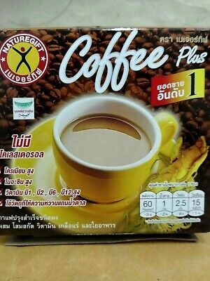 1Box/10 Sach. Best Weight Loss Diet Instant Coffee Plus Ginseng NatureGift Detox