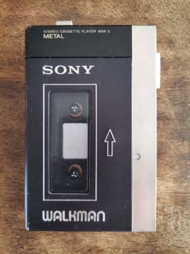 SONY WALKMAN WM-3, NEW BELT, NEW RUBBERS, LUBRICATED, WORKING PERFECTLY