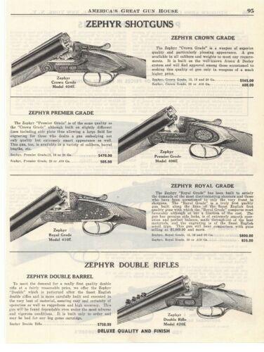 1951 Zephyr Shotguns & Powell Shotguns Double Sided Advertisement