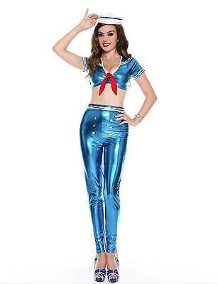ilor Queen Costume Low Cut Top and metallic Pants  70628  (Cute Sailor Kostüme Halloween)