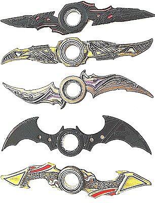 NEW Retail Batman Batarang Metal Fidget Hand Spinner Ring Alloy ADHD Kids Toys
