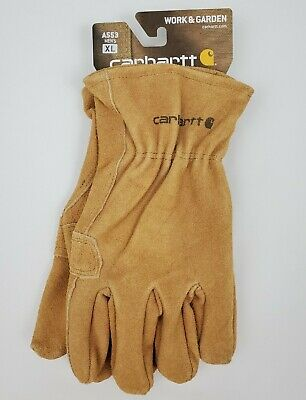 Carhartt Mens Leather Work Glove Fencer X-large Brown