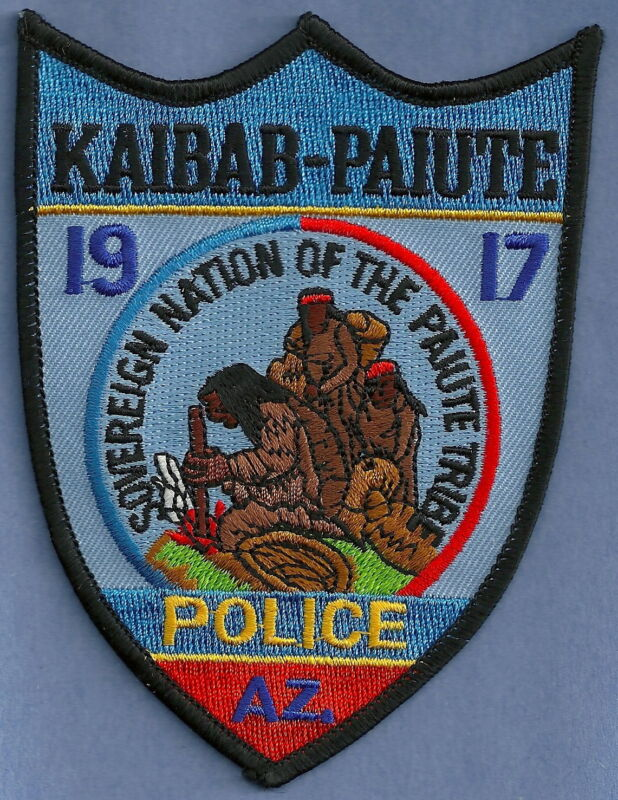 KAIBAB PAIUTE ARIZONA INDIAN TRIBAL POLICE SHOULDER PATCH
