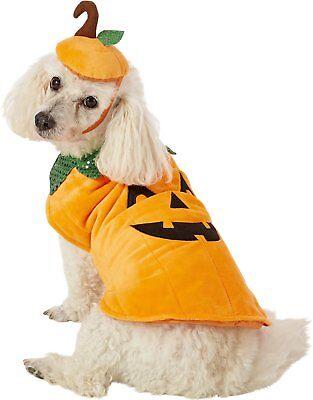 Matching Dog Costumes (Pet Halloween Orange Pumpkin Dog & Cat Costume w/Matching Cap. Size)