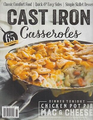 Cast Iron Casseroles 2018 Recipes Chicken Pot Pie/Mac & Cheese for sale  Shipping to India