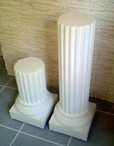 colonne tronqu e en staff pl tre renforc de fibres support vase ou objet d co ebay. Black Bedroom Furniture Sets. Home Design Ideas