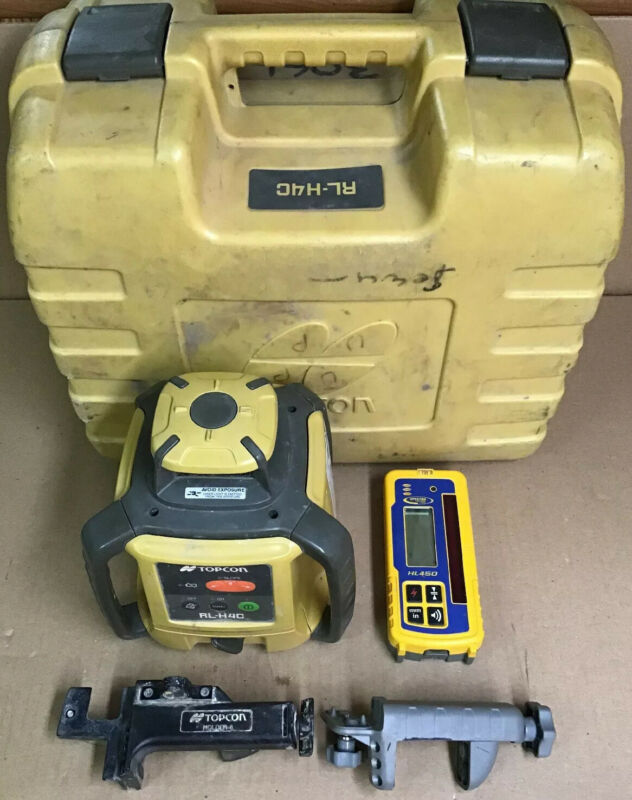 Topcon RL-H4C Rotary Laser Level w/ Spectra HL450 Precision Receiver Laserometer