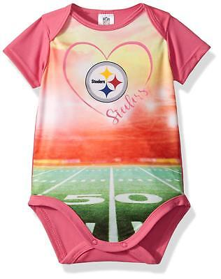 082b5cb09 NFL Pittsburgh Steelers Bodysuit Stadium Design Pink Size 3 Month Gerber