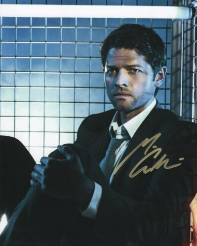 Misha Collins Supernatural Autographed Signed 8x10 Photo COA MP002