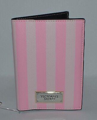 Victorias Secret Pink Stripe Passport Cover Case Travel Wallet Credit Card Cute