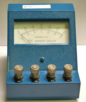Vintage Sargent Welch S-30667 Dc Ampere Meter 0-3a 0-15a 0-30a Free Ship M13