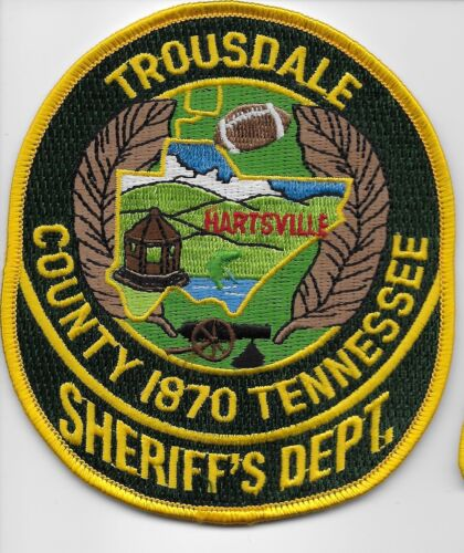Troudale County Sheriff State Tennessee TN Colorful