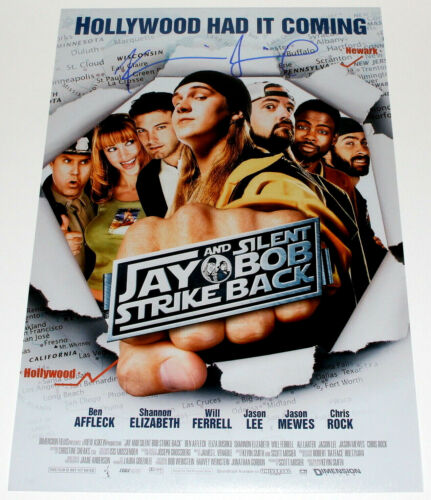 KEVIN SMITH SIGNED JAY AND SILENT BOB STRIKE BACK 12x18 MOVIE POSTER PHOTO w/COA