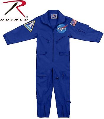 Kids Blue NASA Space Camp Flight Suit, Aviator Coveralls Air Force Jumpsuit 7209