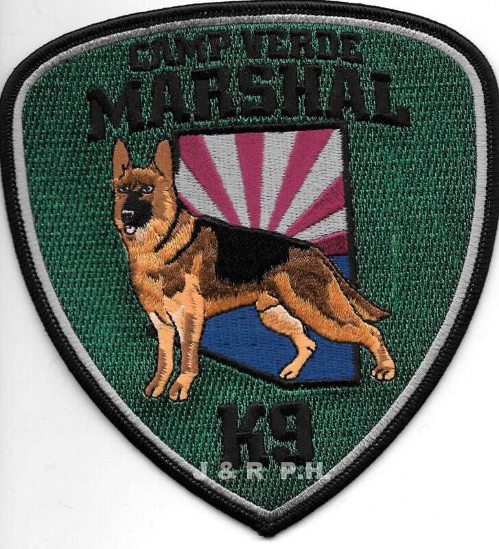 "Camp Verde Marshal  K-9, AZ  (5"" x 5.25"" size)  shoulder police patch (fire)"