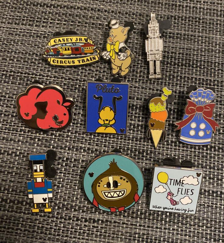 DLR HIDDEN MICKEY Disney Pin Trading Lot of 10 Pins No Doubles Lot142