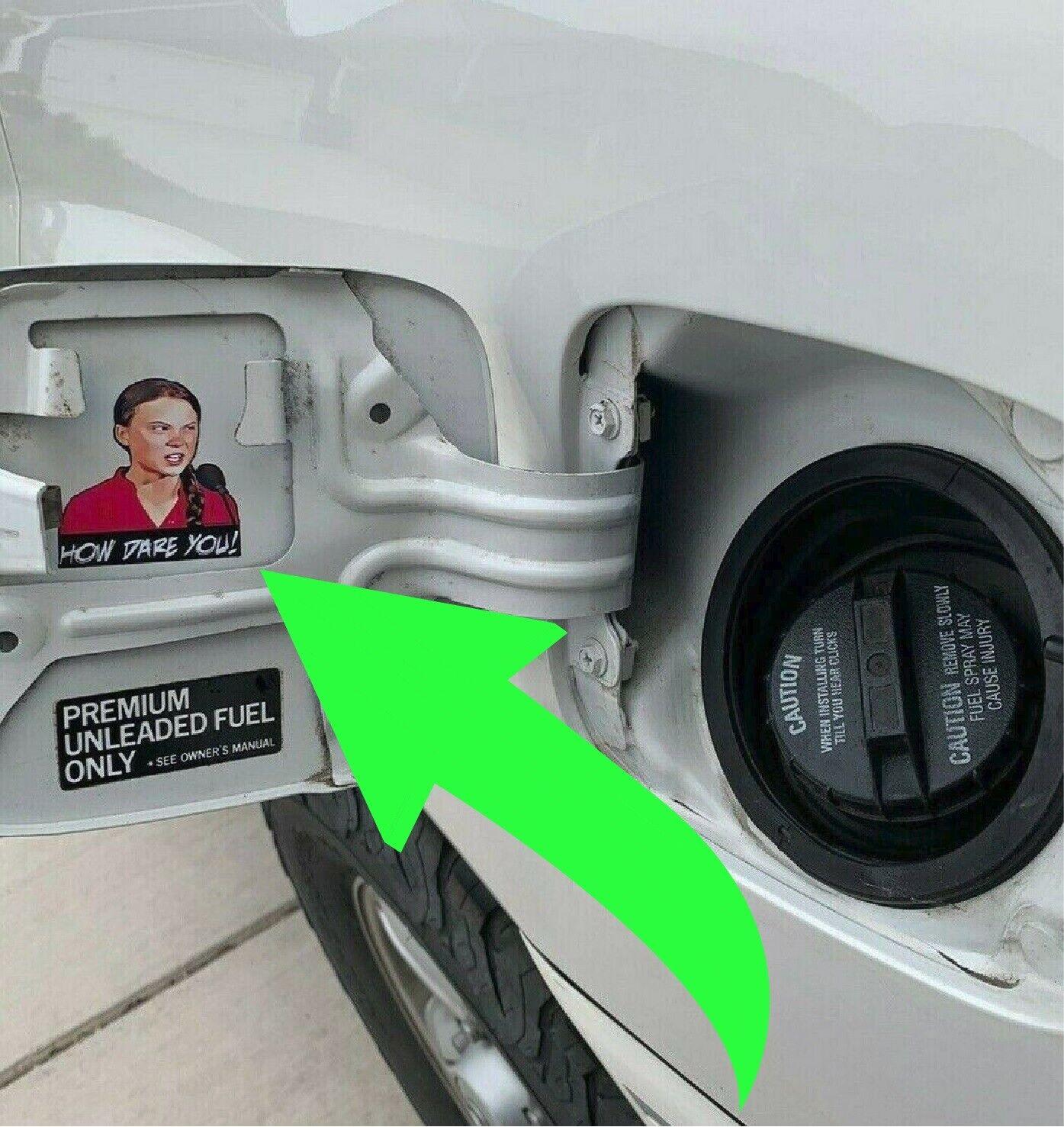 Home Decoration - How Dare You Greta Thunberg gas door funny drift jdm car sticker window decal