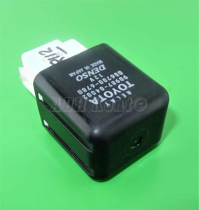 112-Toyota Lexus 5-Pin Multi-Use Black Relay 90987-04002 Denso 056700-6780 Japan