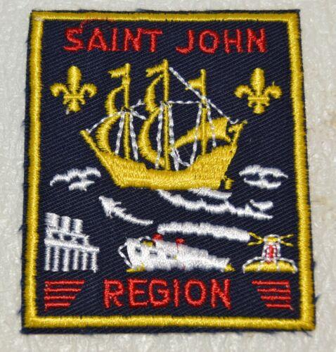 SAINT JOHN REGION Cut Edge Rectangular Boy Scout Uniform Badge Canadian (NBS2B)