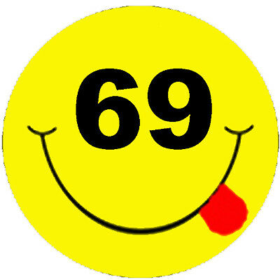 69 Smiley Construction Stickers S69a