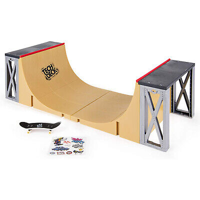 Tech Deck Ultimate Half Pipe Mini Skateboard Deck Ramp Play Set with Fingerboard