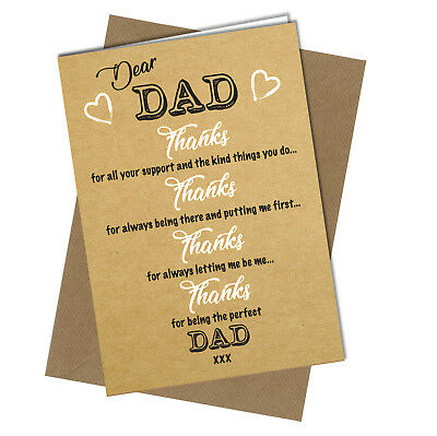 #699 BIRTHDAY FATHERS DAY CARD DAD Best Friendship Xmas Thank you Greeting (Best Friendship Day Greetings)