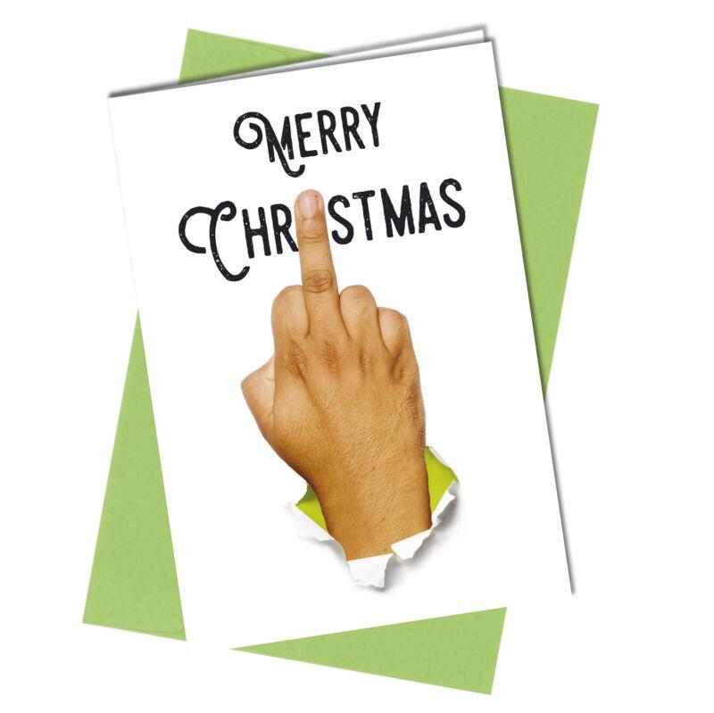 #420 CHRISTMAS CARD Rude Greeting Card funny humour joke Annoying you at Xmas