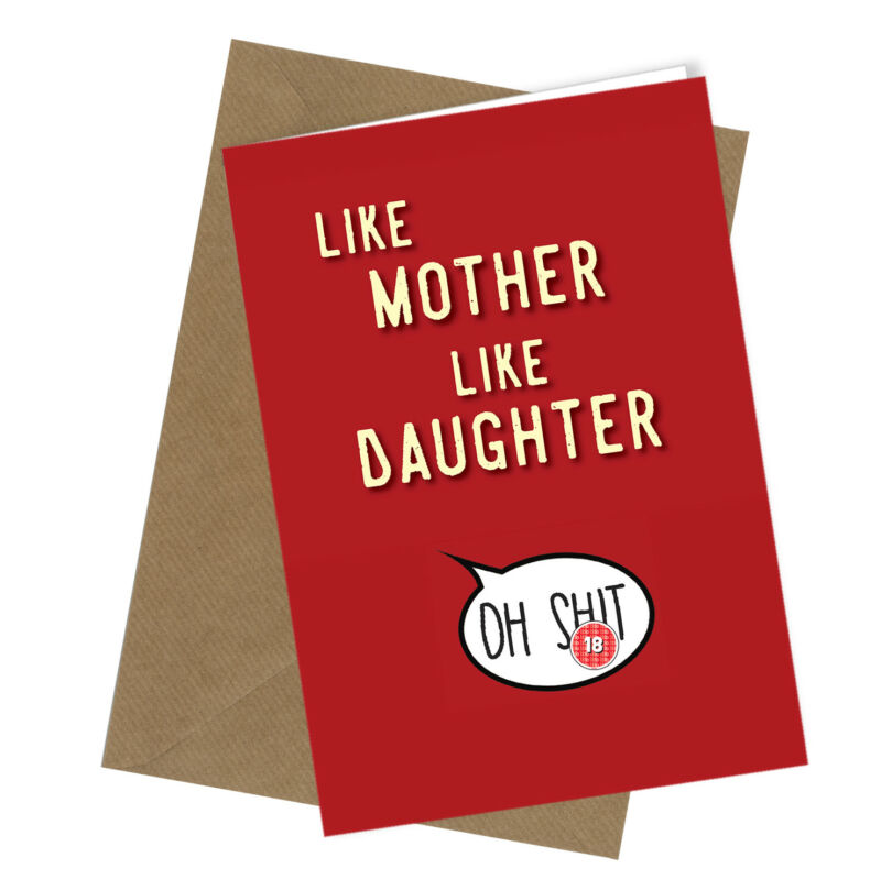 #935 MOTHERS DAY CARD Daughter in Law Mum Comedy Rude Funny Humour Banter