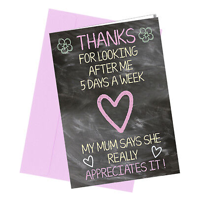 #261 THANKS FOR LOOKING AFTER ME Greetings card Best / Great Teacher /