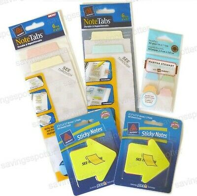 Martha Stewart Avery Binder Kit Notetabs Sticky Notes Back To School