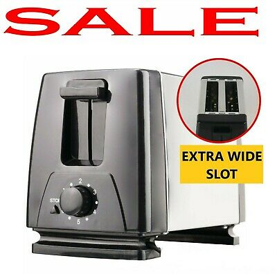 2 Slice Toaster For Rv Camper Dense Mini Bagel Bread Stainless Steel Small