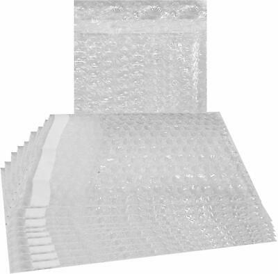 50 - 6X8.5 Clear Self-Sealing Bubble Out Pouches Wrap Bags 6 x 8 1/2